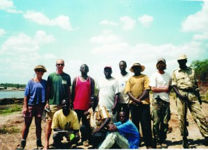 The 2001 field crew in Tsavo, Kenya