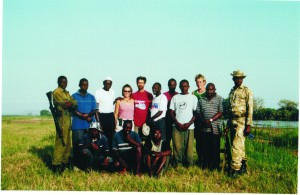 The 2004 field crew in Tsavo, Kenya