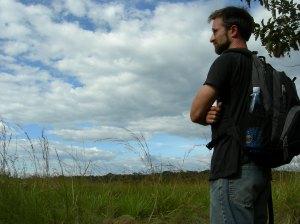 Pondering a grassland next to Kakamega Forest, Kenya
