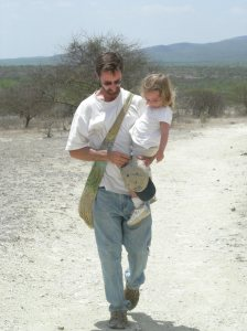 With my daughter, Nadya, at Olorgesailie, Kenya in 2008