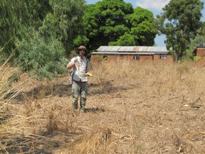 Working the GPS in Malawi