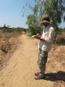 Taking notes in Karonga, Malawi